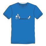 T-shirt drollen-blauw