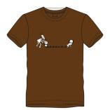 T-shirt drollen-bruin