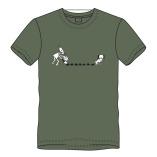 T-shirt drollen-olijf