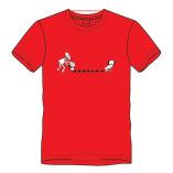 T-shirt drollen-rood