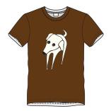 T-shirt hond-bruin