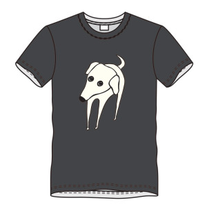T-shirt hond-grijs