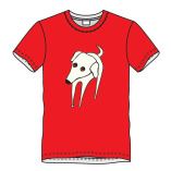 T-shirt hond-rood