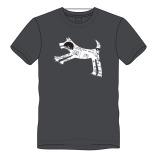 T-shirt springhond-grijs
