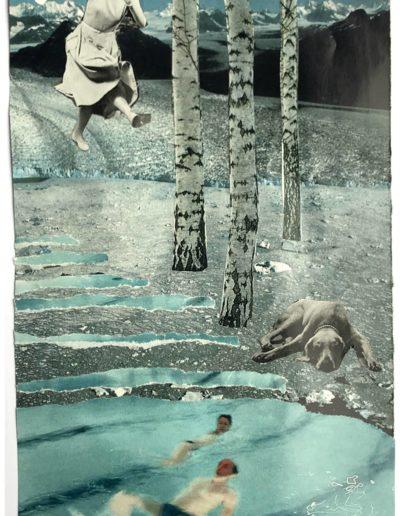 Collage op papier. 20 x 30 cm. 2019
