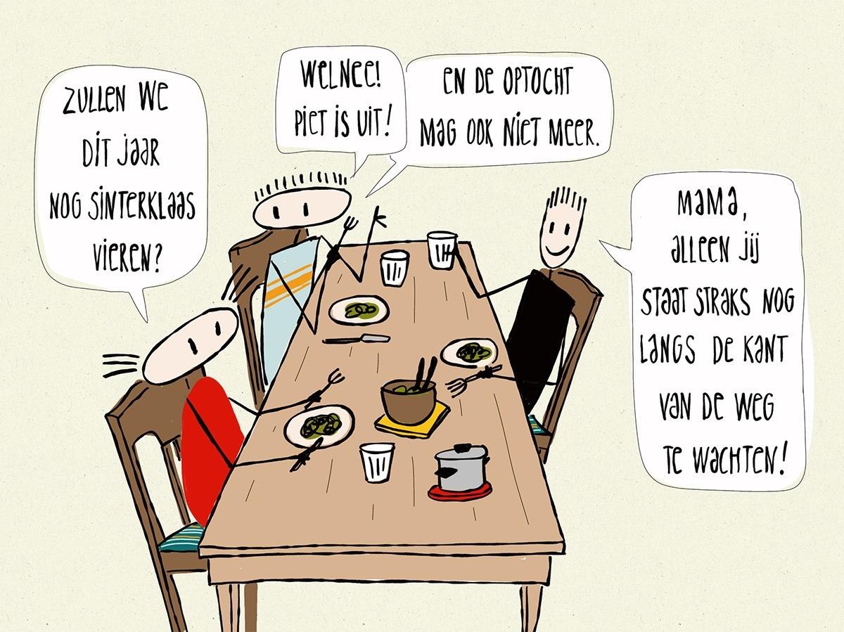 Cartoon over begrijpend lezen