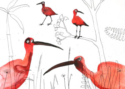 Vogels (Aquarel)
