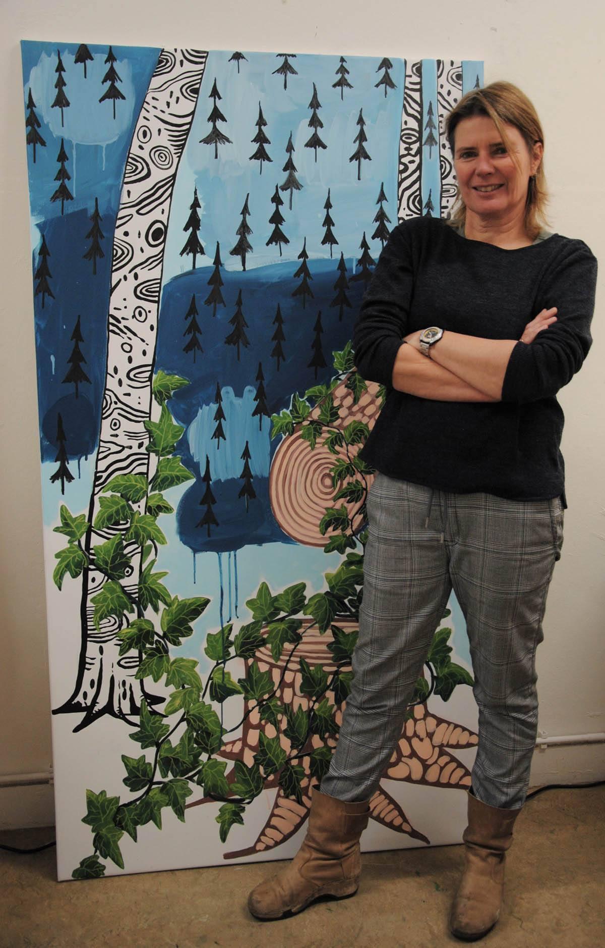 Portret foto in atelier van Nynke Kuipers